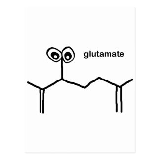 Glutamate Neurotransmitter Postcard