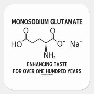 Glutamato monosódico que aumenta el gusto para más pegatina cuadrada