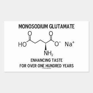 Glutamato monosódico que aumenta el gusto para más pegatina rectangular
