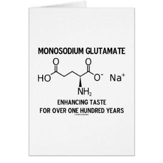 Glutamato monosódico que aumenta el gusto para más tarjeta de felicitación
