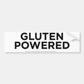 Gluten accionado etiqueta de parachoque