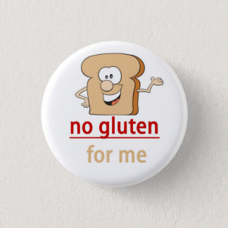 Gluten Allergy Alert Pinback Button
