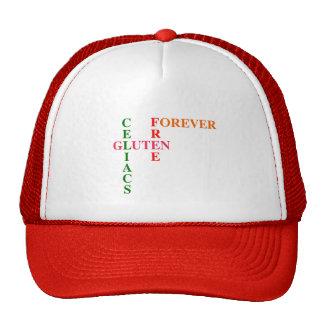 Gluten de Celiacs libre para siempre Gorros