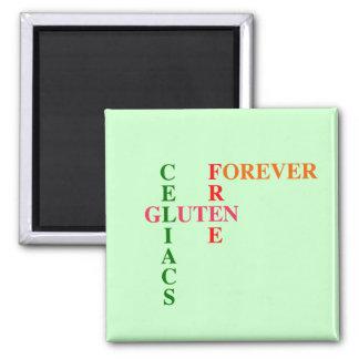 Gluten de Celiacs libre para siempre Imanes De Nevera