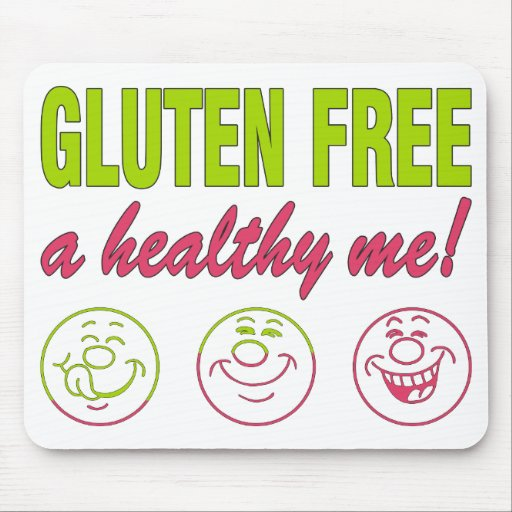 Gluten Free A Healthy Me! Gluten Allergy Celiac Mouse Pads
