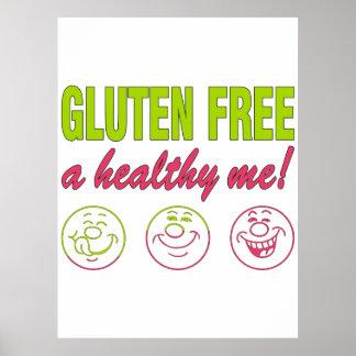 Gluten Free A Healthy Me! Gluten Allergy Celiac Poster