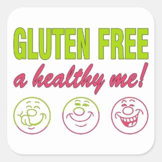 Gluten Free A Healthy Me! Gluten Allergy Celiac Square Sticker