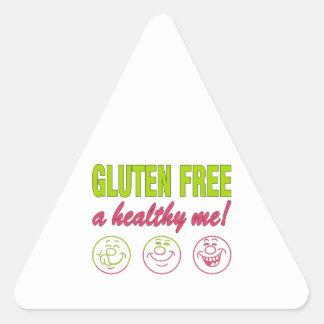 Gluten Free A Healthy Me! Gluten Allergy Celiac Triangle Sticker