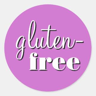 Gluten Free Allergy Safe Culinary Label Classic Round Sticker