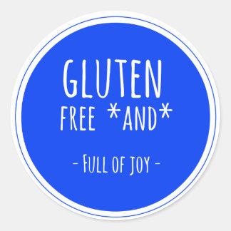 Gluten free and full of joy sticker