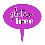 Gluten Free Bake Sale Potluck Buffet Sign Oval Cake Topper