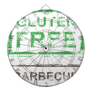 Gluten Free Barbecue Stamp Dartboard With Darts