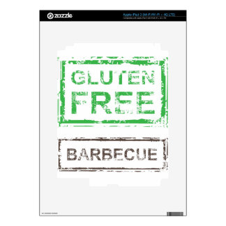 Gluten Free Barbecue Stamp Decal For iPad 3