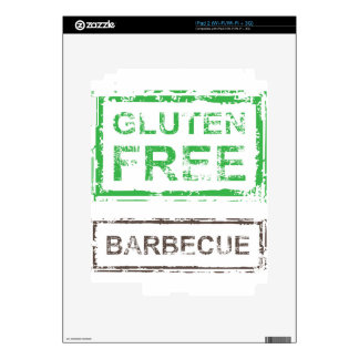 Gluten Free Barbecue Stamp iPad 2 Skins