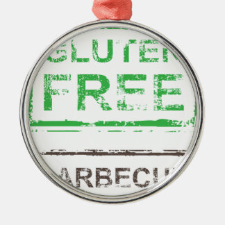 Gluten Free Barbecue Stamp Metal Ornament