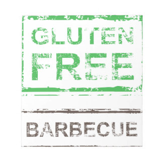 Gluten Free Barbecue Stamp Note Pad