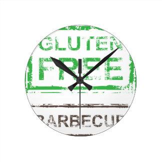Gluten Free Barbecue Stamp Round Clock