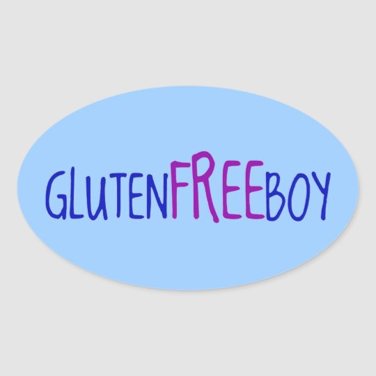 Gluten Free Boy Oval Sticker
