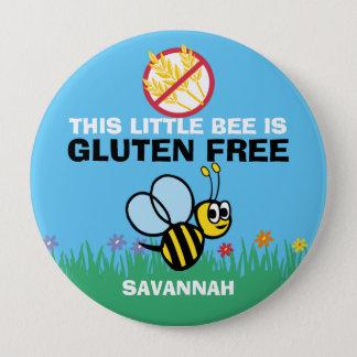 Gluten Free Bumblebee Button for Celiac Alert