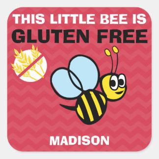 Gluten Free Bumblebee Celiac Red Stickers