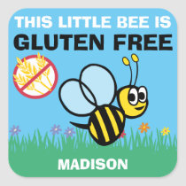 Gluten Free Bumblebee Celiac Stickers
