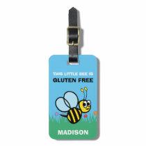 Gluten Free Bumblebee Large Medicine Bag Tag