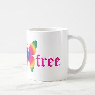 gluten-free butterfly (multi-colored) large mug