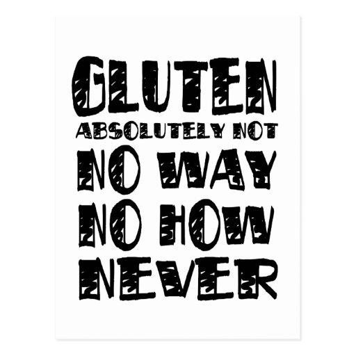 Gluten Free Celiac Designs No Way Postcard