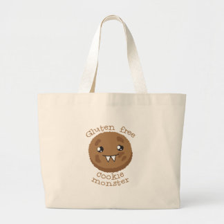 Gluten free cookie monster large tote bag