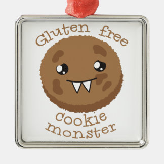 Gluten free cookie monster metal ornament
