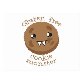 Gluten free cookie monster postcard