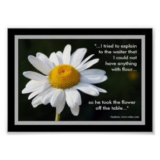Gluten Free Daisy Poster with Quote