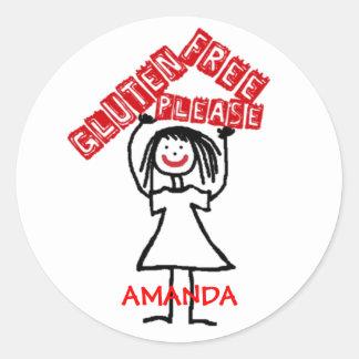 Gluten Free Daycare Safety Classic Round Sticker