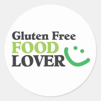 Gluten Free Food Lover items Round Stickers