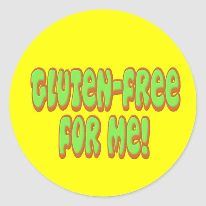 Gluten Free For Me Classic Round Sticker