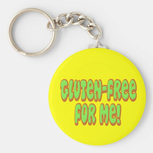 Gluten Free For Me Keychain