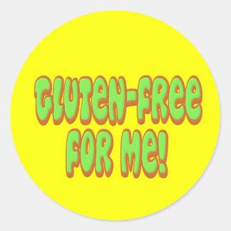 Gluten Free For Me Round Sticker