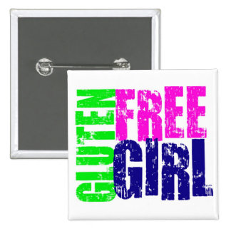 Gluten Free Girl Fun Pinback Button