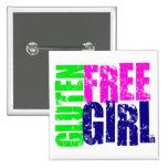 Gluten Free Girl Fun Pinback Buttons