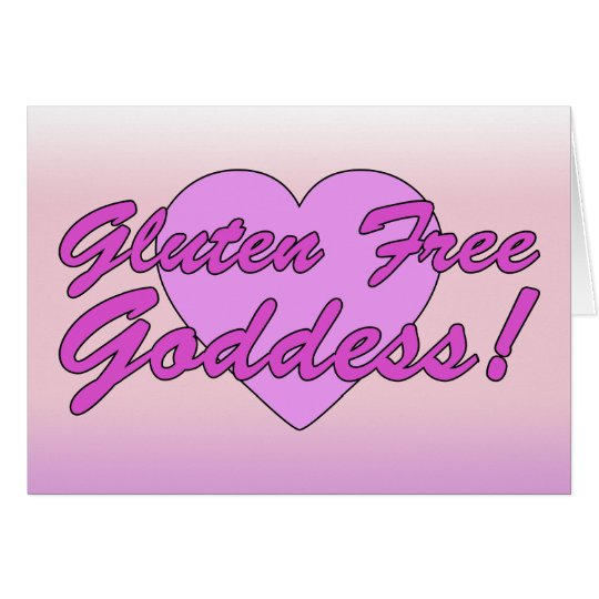 Gluten Free Goddess! Gluten Allergy Celiac Card