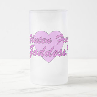 Gluten Free Goddess! Gluten Allergy Celiac Frosted Glass Beer Mug