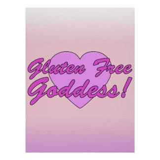 Gluten Free Goddess! Gluten Allergy Celiac Poster