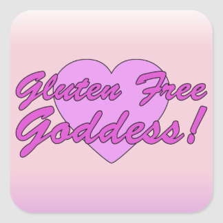 Gluten Free Goddess! Gluten Allergy Celiac Square Sticker