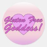 Gluten Free Goddess! Gluten Allergy Celiac Round Sticker