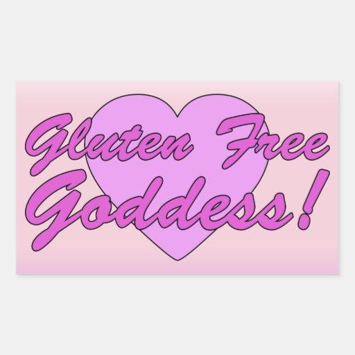 Gluten Free Goddess! Gluten Allergy Celiac Rectangular Stickers