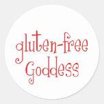 Gluten Free Goddess Round Sticker