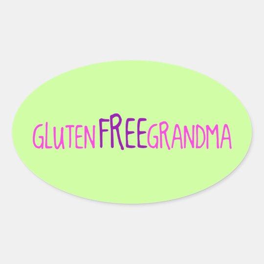 Gluten Free Grandma Oval Sticker