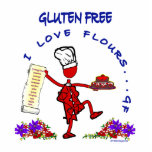 Gluten Free I Love Flours Acrylic Cut Outs
