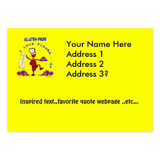 Gluten Free I Love Flours Large Business Cards (Pack Of 100)