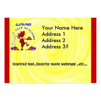Gluten-Free - I Love GF Flour Design Large Business Card